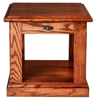 Millwood Pines Torin End Table with Storage Color: Spice Alder