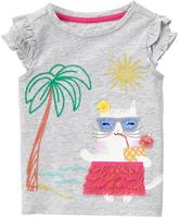 Gymboree Hula Cat Tee