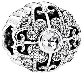 Pandora Silver Cz Fairytale Bloom Charm