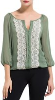 YACUN Women's Casual Floral Long Sleeve Blouse Tops S