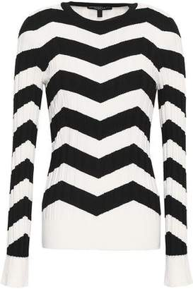 Derek Lam Ribbed Striped Cashmere And Silk-blend Top