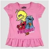 Sesame Street Toddler Girls' Group Friends T-Shirt - Pink