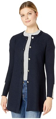 Nic+Zoe Color-Block Sleeve Cardigan (Dark Indigo) Women's Clothing