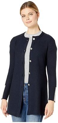 Nic+Zoe Color-Block Sleeve Cardigan (Dark Indigo) Women's Clothing