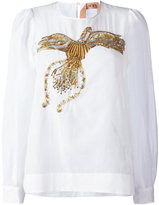 No.21 sequin embroidered blouse - women - Silk/Cotton/Polyester/glass - 42