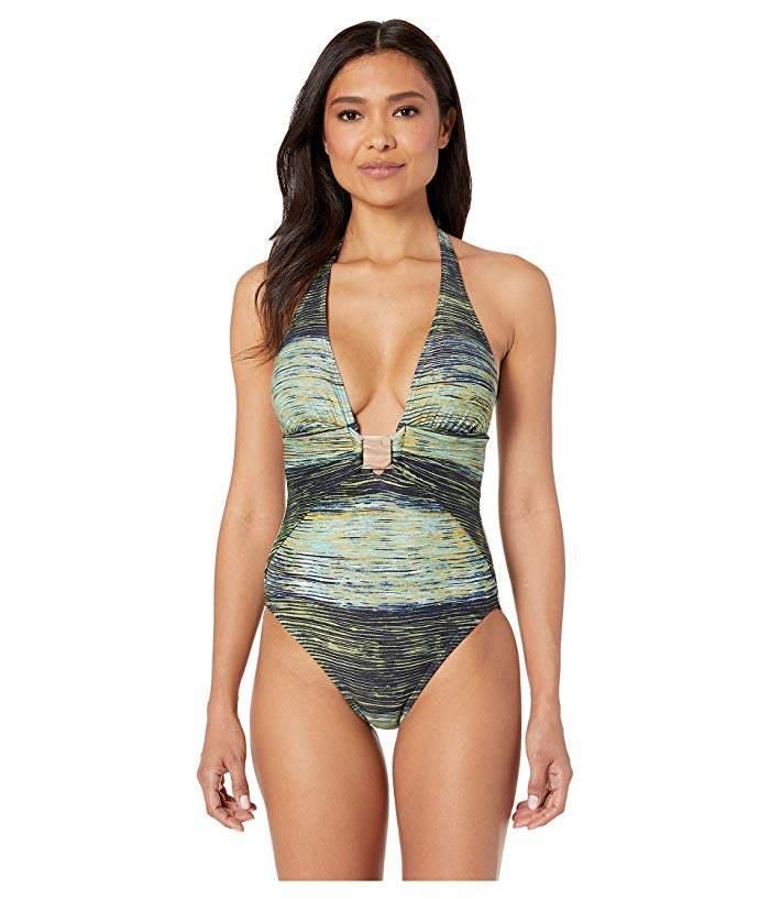 1ad79e429bb13 Removable Halter Strap Swimsuit - ShopStyle