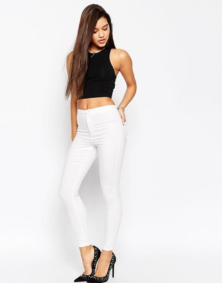Asos DESIGN Rivington high waisted denim jeggings in white