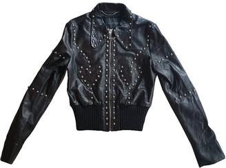 John Richmond Black Leather Leather Jacket for Women