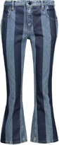 Alexander Wang Cropped striped mid-rise flared jeans