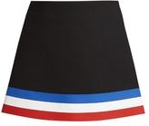 J.W.Anderson Striped-hem neoprene mini skirt