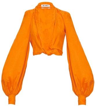 ATTICO Silk Orange Cropped Blouse