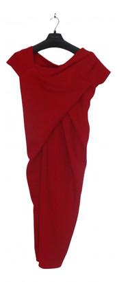 Donna Karan Red Polyester Dresses