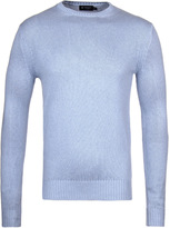 Hackett Sky Blue Thick Knit Crew Neck Sweater