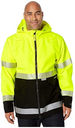 Timberland Big Tall Work Site High-Visibility Waterproof Jacket (High-Visibility) Men's Coat