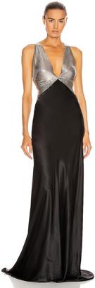 Fannie Schiavoni Eliza Dress in Silver & Black   FWRD