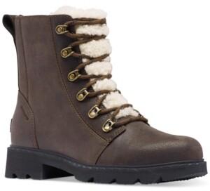 Sorel Women's Lennox Lace Cozy Lug Sole Booties Women's Shoes