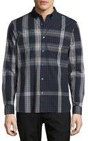 Burberry Blackrock Check Poplin Shirt, Navy Blue