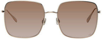 Christian Dior Silver and Brown DiorStellaire1 Sunglasses