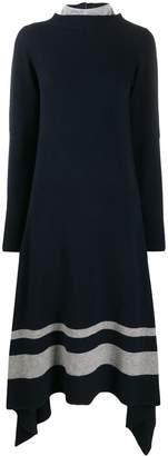 Sacai contrast panel knit dress