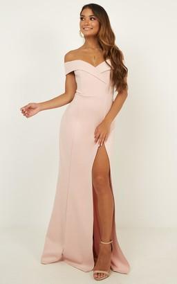 Showpo One For The Money dress in blush - 16 (XXL) Engagement Dresses