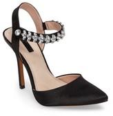 Topshop Women's Embellished Ankle Strap Pump