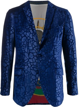 Etro Abstract-Print Single Breasted Blazer