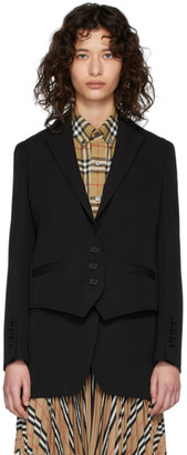 Burberry Black Wool Titouan Blazer