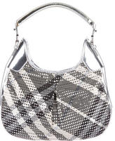 Burberry Metallic Beat Check Hobo