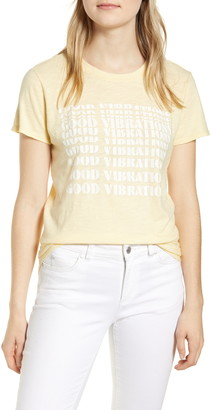 Lucky Brand Good Vibes Cotton Graphic Tee