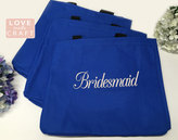 Etsy Blue Bridesmaid Gifts, Monogrammed Totes, Personalized Gift Tote Bags, Bridal Party Gifts, Sorority