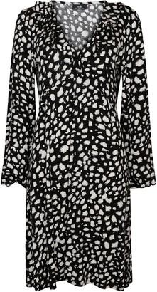 Wallis Monochrome Ruffle Front Midi Dress