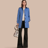 Burberry Single-breasted Trench Coat with Metal Buckle Detail