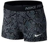 Nike Pro Womens Matte Jersey Snake Print Shorts Black XS