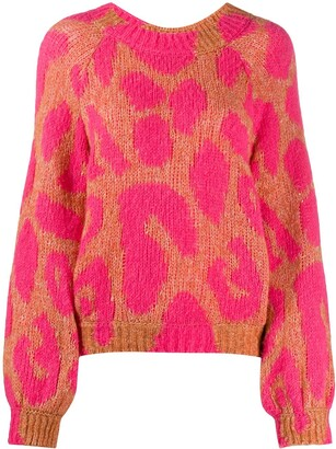 Stella McCartney Leopard-Pattern Knitted Jumper