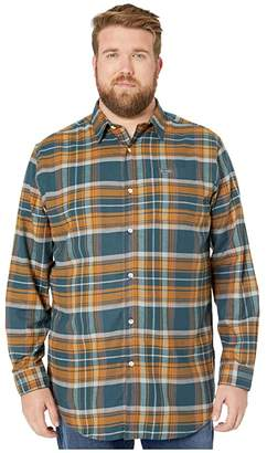 Columbia Big Tall Boulder Ridge Long Sleeve Flannel (Night Shadow Multi Tartan) Men's Long Sleeve Button Up