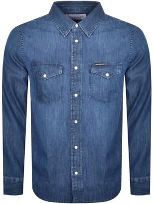 Calvin Klein Jeans Western Long Sleeved Shirt Blue