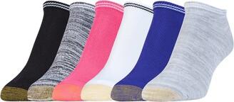 Gold Toe Women's Free Feed Stripe Soft Low Cut Socks