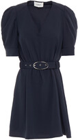 Thumbnail for your product : BA&SH Ulua Belted Ruched Cady Mini Dress