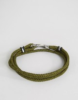 Seven London Cord Wrap Bracelet In Khaki