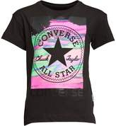 Converse Junior Girls In The Clouds T-Shirt Black