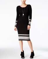 Bar III Striped Sweater Dress, Only at Macy's