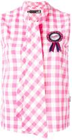 Love Moschino pussy bow sleeveless top - women - Cotton - 40