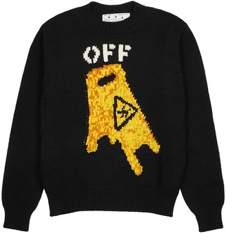 Off-White Pascal Wet Floor intarsia wool-blend jumper