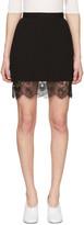Carven Black Lace Trim Miniskirt