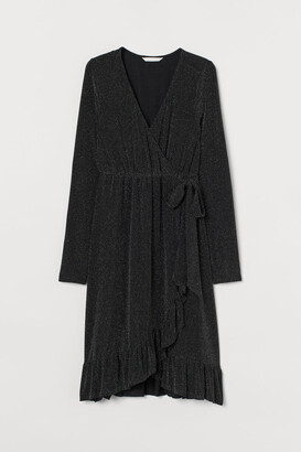 H&M MAMA Wrap Dress - Black