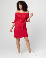 Le Château Off-the-Shoulder Tunic Dress