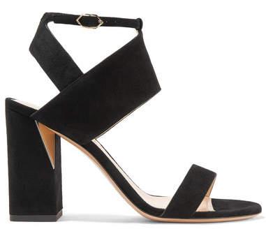 Nicholas Kirkwood Eva Mirror-trimmed Suede Sandals - Black