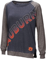 Colosseum Women's Navy Auburn Tigers Binding Diagonal Long Sleeve Raglan T-Shirt