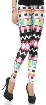 SlickBlue Womens Robot Armor Digital Printed Ankle Leggings
