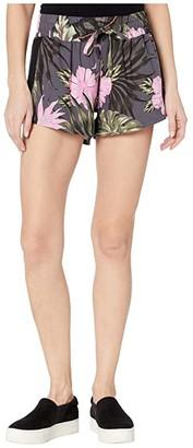Hurley Printed Beach Shorts (Antrhacite) Women's Shorts